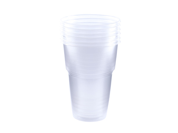 НАБОР СТАКАНОВ ОДНОРАЗОВЫХ пластмассовых 6 шт. 500 мл (арт. BB101591, код 160983)
