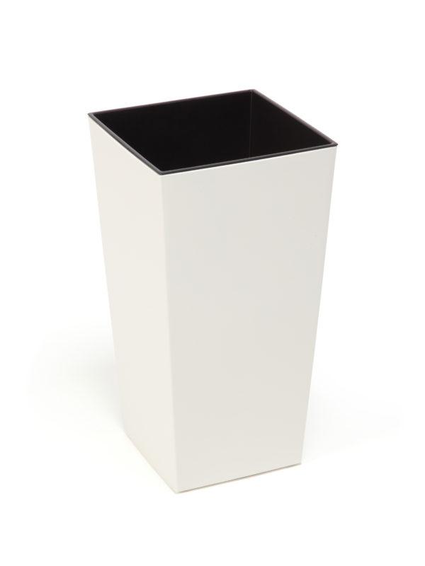 """КАШПО пластмассовое """"Finezja"""" кремовое 25*25 см (арт. LA533-74, код 745333)"""