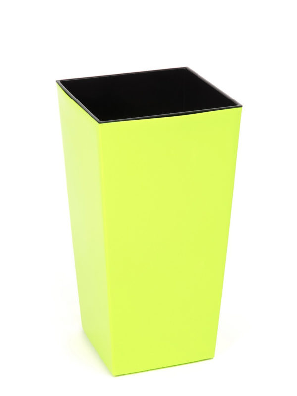 "КАШПО пластмассовое ""Finezja"" лимонное 19*19 см (арт. LA532-81, код 815326)"