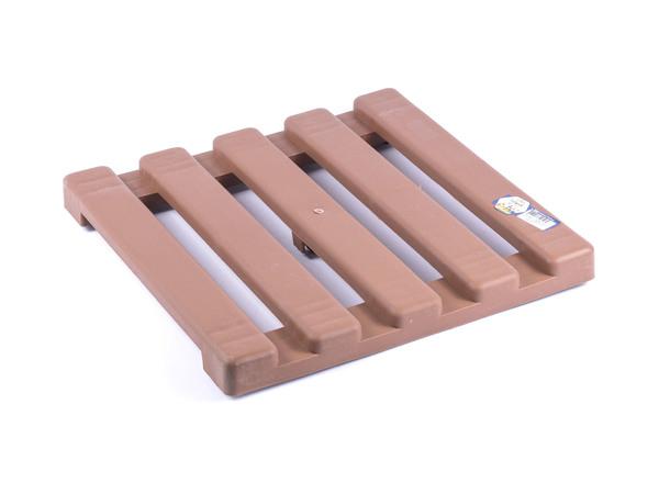 ПОДСТАВКА ДЛЯ ЦВЕТОЧНОГО ГОРШКА пластмассовая на колесиках коричневая 33*33 см (арт. 1PSCKK, код 494056)