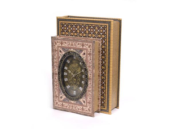 ШКАТУЛКА деревянная с часами 31*21*12,5 см (арт. 7790178, код 104246) (маркированы контрольными идентификационными знаками на наружных уп-ках)