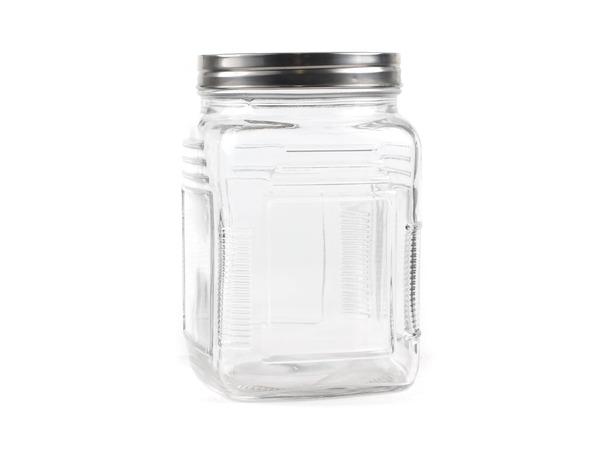 БАНКА ДЛЯ СЫПУЧИХ ПРОДУКТОВ стеклянная 1000 мл с металлической крышкой (арт. 93572, код 120352)