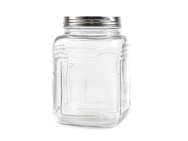 БАНКА ДЛЯ СЫПУЧИХ ПРОДУКТОВ стеклянная 1,5 л с металлической крышкой (арт. 93571, код 120345)