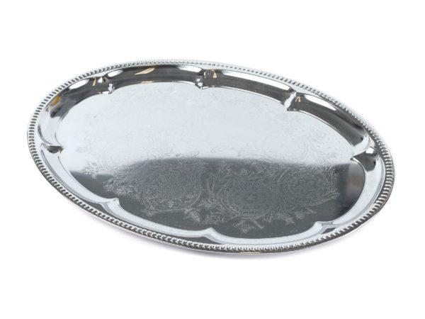 ПОДНОС металлический овальный 41*29 см (арт. 260164)