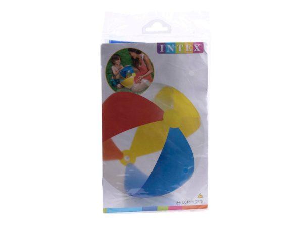 МЯЧ ПЛЯЖНЫЙ НАДУВНОЙ пластмассовый детский 61 см (арт. 59032)