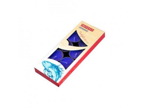 """НАБОР СВЕЧЕЙ ароматизированных в металлической гильзе """"Океан"""" 1,5*4 см 10 шт. """"Provence"""" (арт. 560104/79)"""