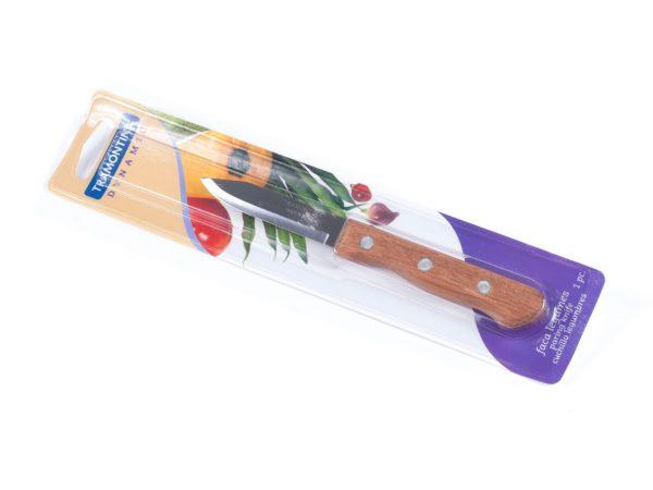"""НОЖ металлический для овощей """"Dynamic"""" с деревянной ручкой 18/7, 8 см (арт. 22310103)"""