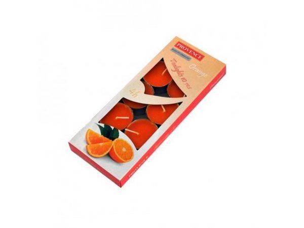 """НАБОР СВЕЧЕЙ ароматизированных в металлической гильзе """"Апельсин"""" 1,5*4 см 10 шт. """"Provence"""" (арт. 560104/84)"""