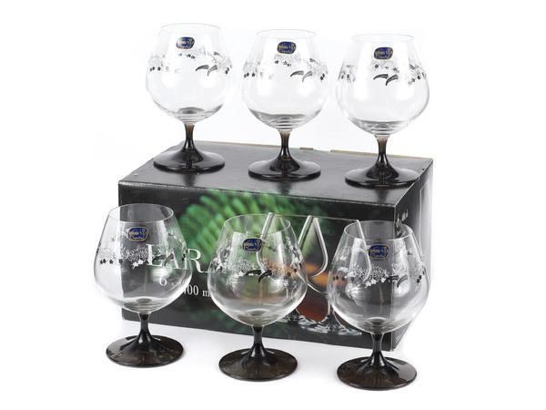 LARA 40415/SB979/400 - НАБОР БОКАЛОВ ДЛЯ ВИНА декор. 6 шт. 400 мл (натрий-кальций-силикатное стекло)