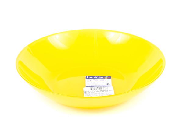 """ТАРЕЛКА ГЛУБОКАЯ стеклянная """"Arty Yellow"""" 20 см (арт. N2488, код 128488)"""