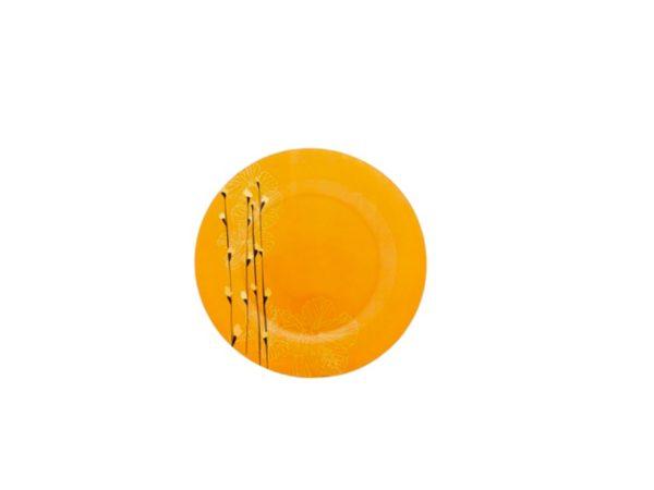 "ТАРЕЛКА МЕЛКАЯ стеклянная ""Rhapsody orange"" 25 см (арт. H7307, код 128310)"