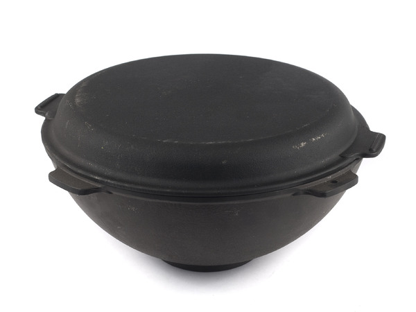 КАСТРЮЛЯ чугунная с крышкой - сковородой 8 л/34*14 см (арт. Т340-140-04к, код 507382)