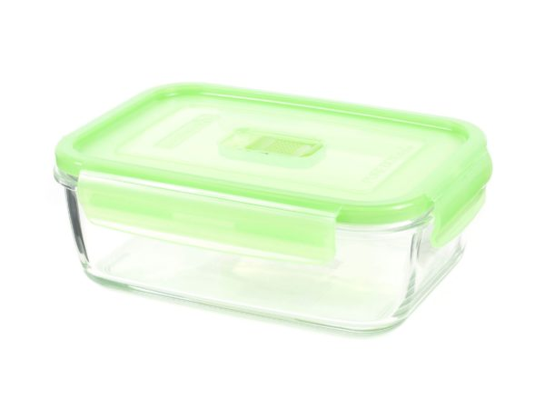 """КОНТЕЙНЕР стеклянный """"Purebox Active green"""" 1220 мл прямоугольный с пластмассовой крышкой (арт. P4570, код 155286)"""