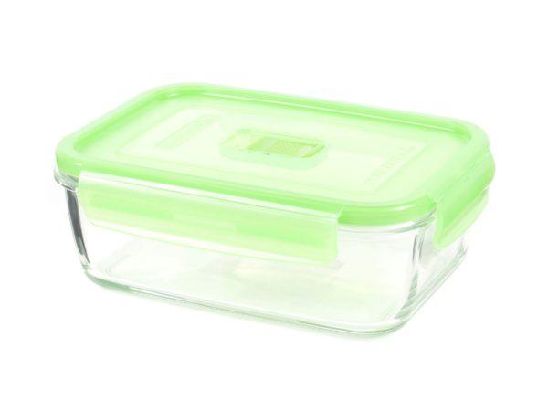 """КОНТЕЙНЕР стеклянный """"Purebox Active green"""" 380 мл с пластмассовой крышкой (арт. P4568, код 155347)"""