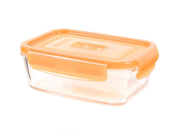 """КОНТЕЙНЕР стеклянный """"Purebox Active orange"""" 380 мл с пластмассовой крышкой (арт. P4578, код 155354)"""