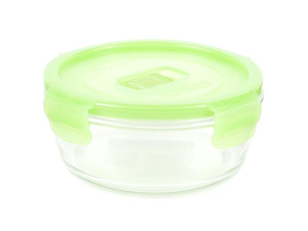 """КОНТЕЙНЕР стеклянный """"Purebox Active Neon green"""" 420 мл с пластмассовой крышкой (арт. N0922, код 155378)"""