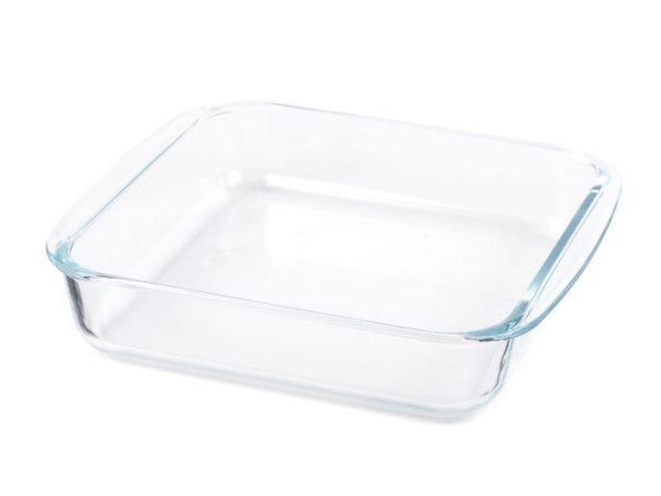 БЛЮДО стеклянное квадратное 24,6*21,8*5 см/1,6 л (арт. 8080-2, код 145386)