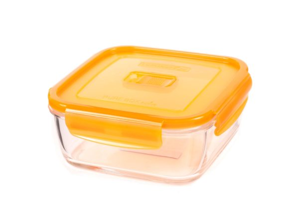 """КОНТЕЙНЕР стеклянный """"Purebox Active orange"""" 1220 мл с пластмассовой крышкой (арт. P4584, код 157341)"""