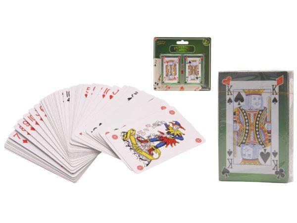 НАБОР КАРТ ИГРАЛЬНЫХ с пластиковым покрытием 2 колоды по 54 карты (код 675089)