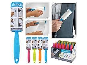 РОЛИК ДЛЯ ЧИСТКИ ОДЕЖДЫ бумажный с пластмассовой ручкой 21*10*4 см (код 320452)