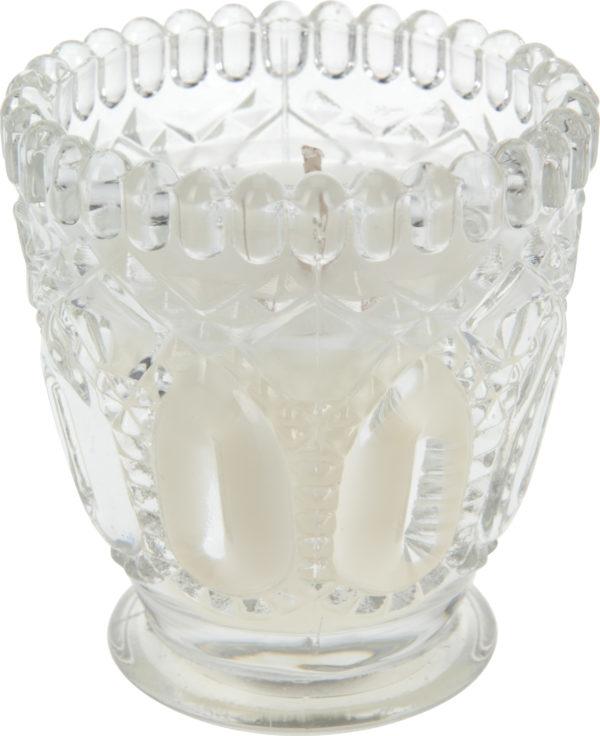 СВЕЧА ароматизированная в стеклянном подсвечнике 7*7,5 см (код 318757)