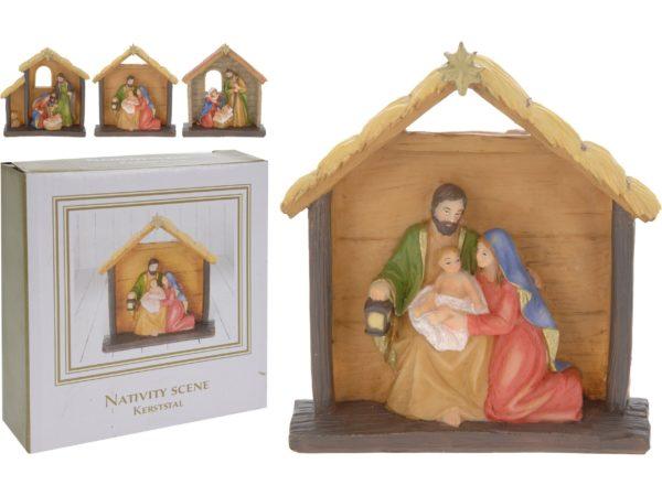 """СТАТУЭТКА пластмассовая """"Рождество"""" 11,5*13 см (код 564697)"""