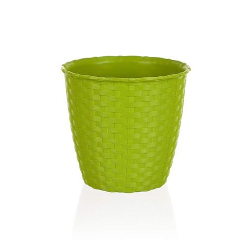 КАШПО ДЛЯ ЦВЕТОВ пластмассовое зеленое 14*13 см (арт. 4773457, код 734579)
