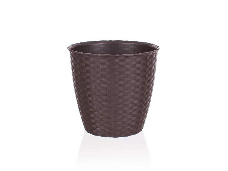 КАШПО ДЛЯ ЦВЕТОВ пластмассовое коричневое 19*17,5 см (арт. 4773462, код 734623)