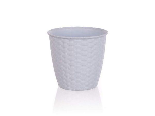 КАШПО ДЛЯ ЦВЕТОВ пластмассовое белое 14*13 см (арт. 4773450, код 734500)