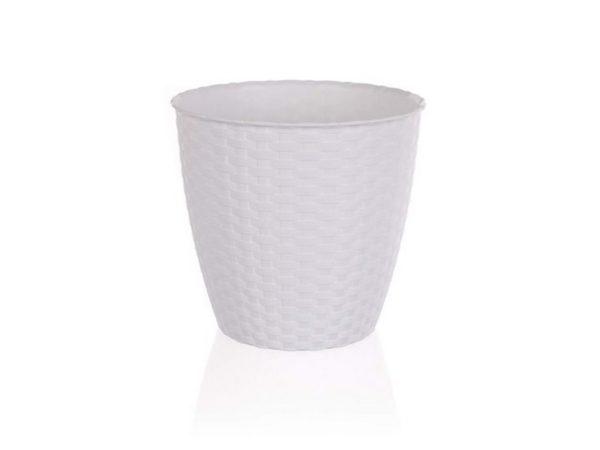 КАШПО ДЛЯ ЦВЕТОВ пластмассовое белое 29*26,5 см (арт. 4773480, код 734807)