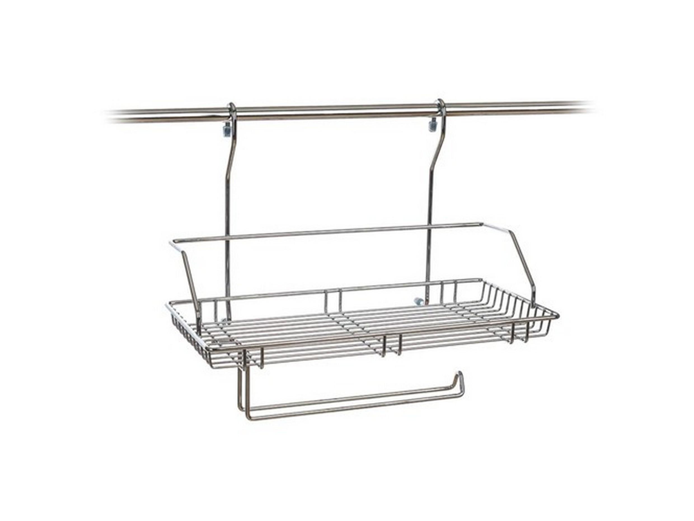 ПОЛКА металлическая подвесная с держателем для рейлинга 40*21*34 см (арт. 45200920, код 399392)