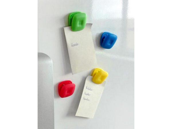 НАБОР ЗАЖИМОВ пластмассовых на магните 8 шт. 2,6*2,6 см (арт. 263987)