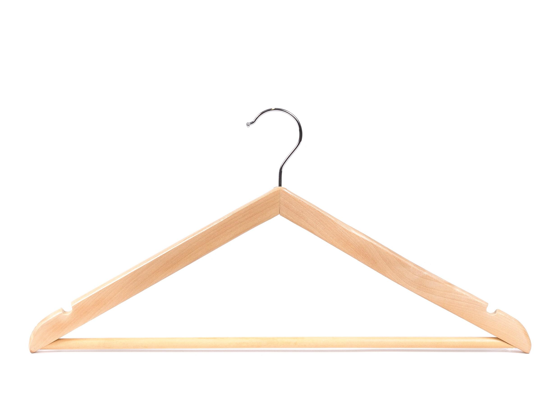 ВЕШАЛКА ДЛЯ ОДЕЖДЫ деревянная 45 см (арт. JL16020, код 000722)