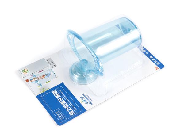 СТАКАН ДЛЯ ЗУБНЫХ ЩЕТОК пластмассовый на присоске 12*8,5*11 см (арт. R1911, код 130184)