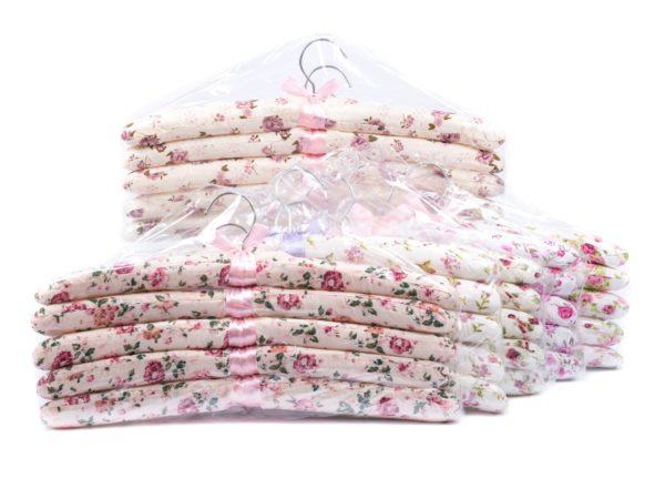 НАБОР ВЕШАЛОК ДЛЯ ОДЕЖДЫ текстильных 5 шт. 39 см (арт. VE2001, код 140060)