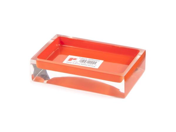 """ПОДСТАВКА ДЛЯ МЫЛА полирезин """"Colours Orange"""" 11*7*3 см (арт. 22280314, код 224145)"""