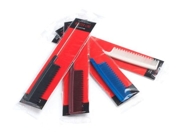 РАСЧЕСКА ЖЕНСКАЯ пластмассовая с метал. ручкой 21,5 см (арт. 10130)