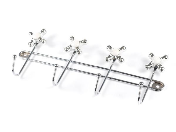 ВЕШАЛКА металлическая 4 крючка 33*5*13,5 см (арт. XX3131-4, код 000985)