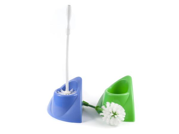 ЩЕТКА ДЛЯ WC пластмассовая в пластмассовой подставке 20,2*14*37,5 см (арт. 5161-1123, код 037094)