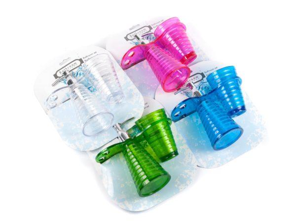 НАБОР ДЛЯ ВАННЫ пластмассовый 3 пр.: дозатор д/жидкого мыла 17*7 см, подставка для зубных щеток, стакан 10*7 см (код 622532)