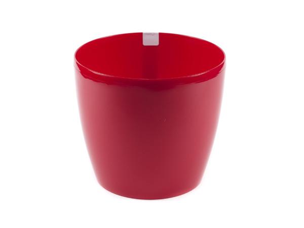 """КАШПО пластмассовое """"Magnolia"""" красное 18*16 см (арт. LA203-01, код 012039)"""