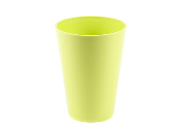 """КАШПО пластмассовое """"Lilia"""" лимонное 12,5*17 см (арт. LA379-81, код 813797)"""