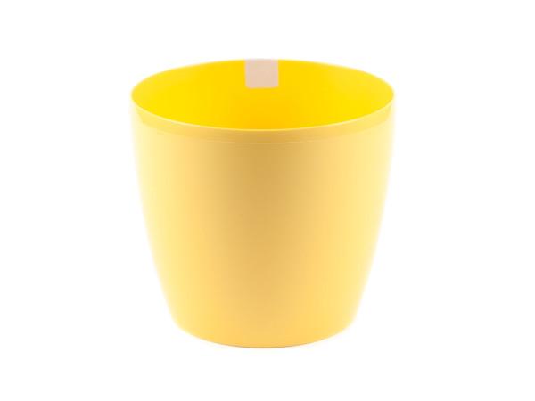 "КАШПО пластмассовое ""Magnolia"" желтое 12*10,4 см (арт. LA200-03, код 032006)"