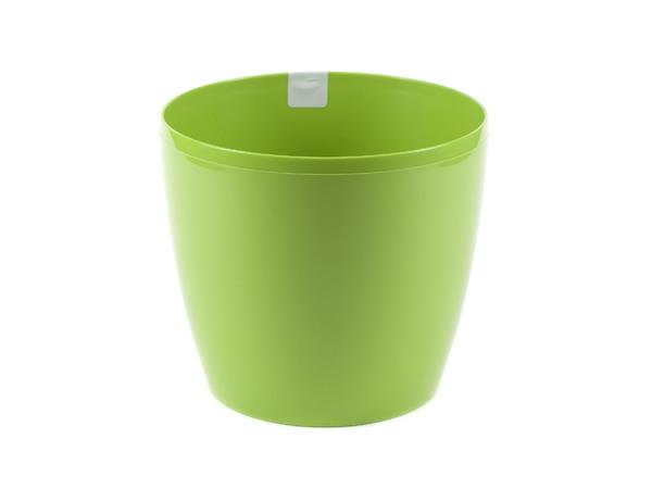 """КАШПО пластмассовое """"Magnolia"""" зеленое 13,5*12 см (арт. LA201-39, код 392018)"""
