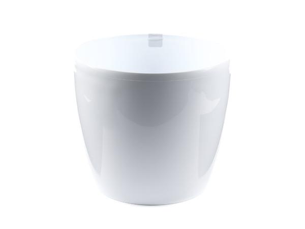 """КАШПО пластмассовое """"Magnolia"""" белое 18*16 см (арт. LA203-05, код 052035)"""