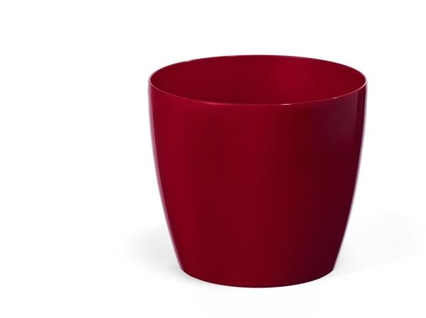 """КАШПО пластмассовое """"Magnolia"""" бордовое 18*16 см (арт. LA203-28, код 282036)"""