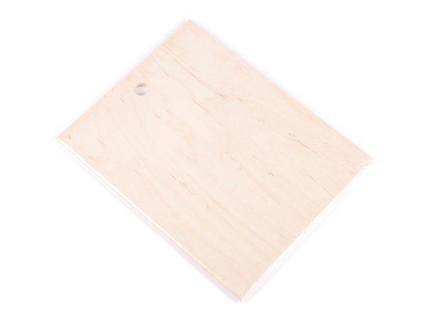 ДОСКА РАЗДЕЛОЧНАЯ деревянная (фанера) 16,5*21*0,5 см (арт. BB101249, код 044849)