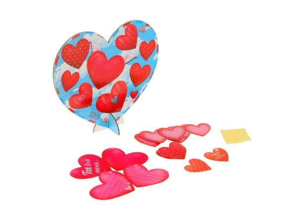"""ОТКРЫТКА картонная с сердечками """"Ты для меня"""" 18*16 см (арт. 10823440, код 800003)"""