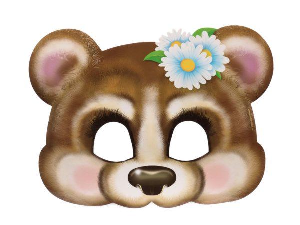 """МАСКА КАРНАВАЛЬНАЯ картонная детская """"Медведь"""" 24*20 см (арт. 24808569, код 267149)"""
