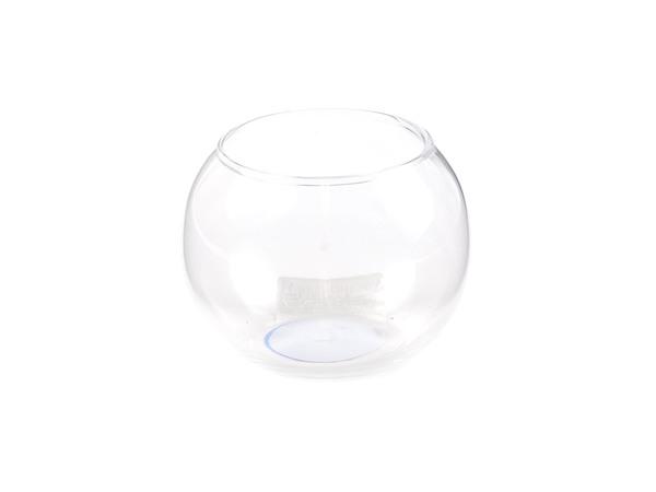 ПОДСВЕЧНИК стеклянный 9,5*9,5 см (код 695390)